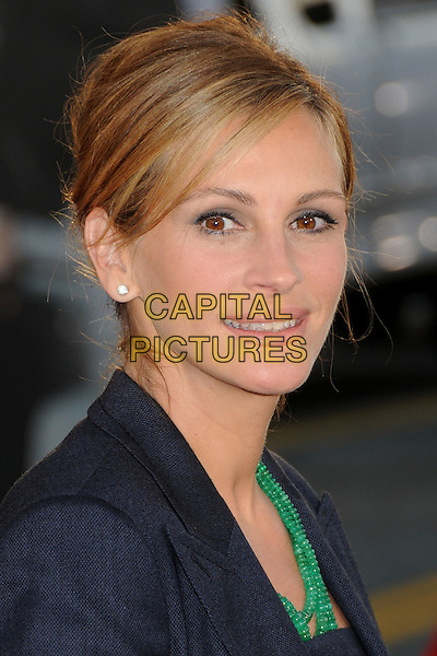 "Julia Roberts.""Larry Crowne"" Los Angeles Premiere held at Grauman's Chinese Theatre.  Hollywood, California, USA..27th June 2011.headshot portrait black green beads necklace  .CAP/ADM/BP.©Byron Purvis/AdMedia/Capital Pictures."