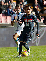 Jose Callejon    in action during the Italian Serie A soccer match between   SSC Napoli and Empolii    at San Paolo   stadium in Naples , December 07, 2014