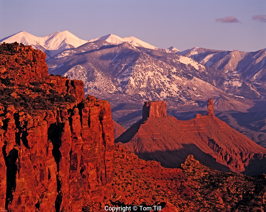 Castle Rock and La Sal Mountains, Proposed La Sal Waters Wilderness, Manti-La Sal National Forest, Utah