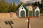 Three bird-house mail boxes, Topaz, Nevada.