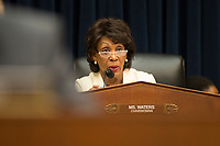 Chair of the House Financial Services Committee Maxine Waters (Democrat of California) delivers her opening remarks prior to United States Secretary of the Treasury Steven T. Mnuchin giving testimony before the committee regarding US House Democrats' request to release US President Donald J. Trump's tax returns on Capitol Hill in Washington, DC on April 9, 2019.<br /> Credit: Stefani Reynolds / CNP/AdMedia