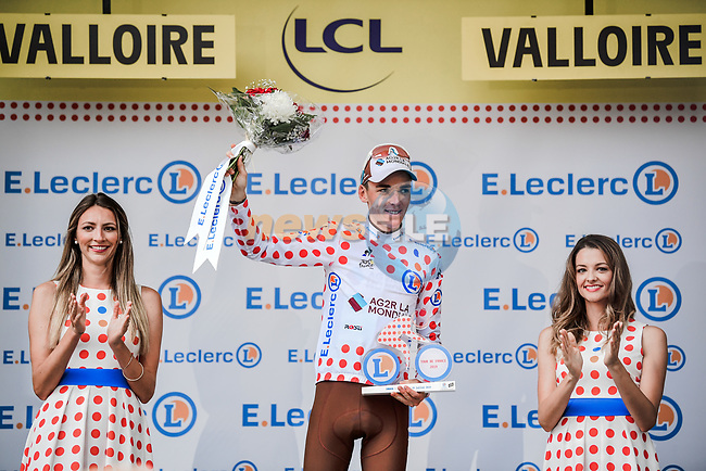 Romain Bardet (FRA) AG2R La Mondiale finishes in 2nd place at the end of Stage 18 and takes over the mountains Polka Dot Jersey of the 2019 Tour de France running 208km from Embrun to Valloire, France. 25th July 2019.<br /> Picture: ASO/Pauline Ballet | Cyclefile<br /> All photos usage must carry mandatory copyright credit (© Cyclefile | ASO/Pauline Ballet)