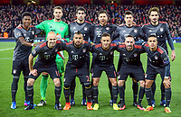 The Bayern Munich Team pose for a pre match team photo before the UEFA Champions League round of 16 match between Arsenal and Bayern Munich at the Emirates Stadium, London, England on 7 March 2017. Photo by PRiME Media Images.