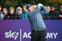 Anthony Wall (ENG) in action during the Final Round of the British Masters 2015 supported by SkySports played on the Marquess Course at Woburn Golf Club, Little Brickhill, Milton Keynes, England.  11/10/2015. Picture: Golffile | David Lloyd<br /> <br /> All photos usage must carry mandatory copyright credit (&copy; Golffile | David Lloyd)