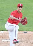 Yu Darvish (Rangers),<br /> APRIL 3, 2017 - MLB :<br /> Texas Rangers starting pitcher Yu Darvish pitches during the opening day of the Major League Baseball game against the Cleveland Indians at Globe Life Park in Arlington in Arlington, Texas, United States. (Photo by AFLO)