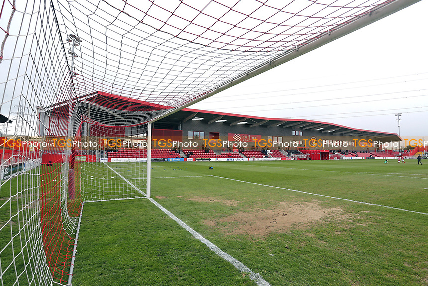 General view of the ground ahead of Ebbsfleet United vs Dagenham & Redbridge, Vanarama National League Football at The Kuflink Stadium on 13th April 2019