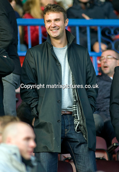 NON EXCLUSIVE PICTURE: MATRIXPICTURES.CO.UK<br /> PLEASE CREDIT ALL USES<br /> <br /> WORLD RIGHTS<br /> <br /> English actor Jonathan Wilkes is pictured as he watches the Port Vale Vs Swindon Town football match in Swindon, England. <br /> <br /> &quot;This is like Port Vale home for me.&quot; Wilkes is seen commenting.<br /> <br /> Wilkes is a resident of Royal Wootton Bassett near Swindon and his son plays for one of the Swindon Town junior teams.<br /> <br /> Jonathan's beloved team Port Vale lost 5 - 2 to Swindon Town.<br /> <br /> NOVEMBER 2nd 2013<br /> <br /> REF: RWN 137132