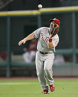 Philadelphia Phillies OF Geoff Jenkins on Saturday May 24th at Minute Maid Park in Houston, Texas. Photo by Andrew Woolley / Four Seam Images..