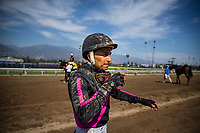 ARCADIA, CA - SEPTEMBER 30: Rafael Bejarano at the Zenyatta Stakes at Santa Anita Park on September 30, 2017 in Arcadia, California. (Photo by Alex Evers/Eclipse Sportswire/Getty Images)