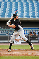 Hunter Hope #15 of William T Dwyer High School in Jupiter, Florida playing for the Colorado Rockies scout team during the East Coast Pro Showcase at Alliance Bank Stadium on August 3, 2012 in Syracuse, New York.  (Mike Janes/Four Seam Images)