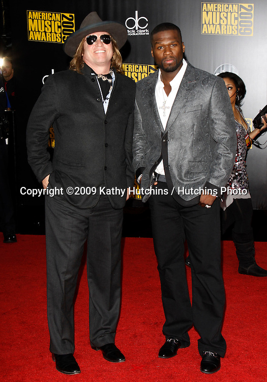 Val Kilmer, Curtis Jackson.The 2009 American Music Awards - Arrivals.Nokia Theatre L.A. Live.Los Angeles, CA.November 22, 2009.©2009 Hutchins Photo....
