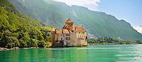 Chateaux Chillion on Lac Leman, Montreaux, Vaud Switzerland