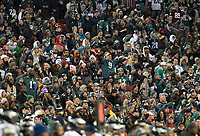Philadelphia Eagles fans fill the stands for the game against the Washington Redskins at FedEx Field in Landover, Maryland on December 30, 2018.  The Eagles won the game 24 - 0 and their victory coupled with the Viking loss allowed them to advance to the NFC playoffs. Photo Credit: Ron Sachs/CNP/AdMedia