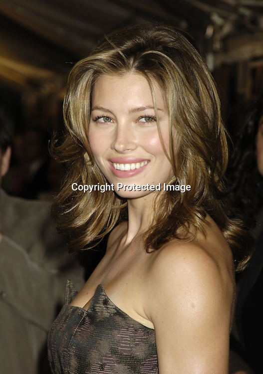 "Jessica Biel ..at The New York Premiere of ""Elizabethtown""  on     October 10, 2005 at The Loews LIncoln Square. ..Photo by Robin Platzer, Twin Images"