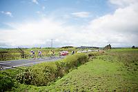 5 men breakaway group of the day: Gert Dockx (BEL/Lotto-Belisol), Giorgio Cecchinel (ITA/Neri Sottoli), Yonder Godoy (VEN/Androni Giocattoli), Miguel Angel Rubiano (COL/Columbia) &amp; Maarten Tjallingii (NLD/Belkin)<br /> <br /> Giro d'Italia 2014<br /> stage 3: Armagh (NI) - Dublin (IRL) 187km