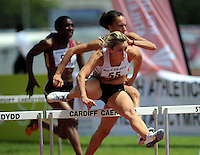 Welsh hurdler Heather Jones