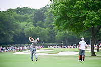 Charley Hoffman (USA) hits his approach shot on 1 during round 4 of the Dean &amp; Deluca Invitational, at The Colonial, Ft. Worth, Texas, USA. 5/28/2017.<br /> Picture: Golffile | Ken Murray<br /> <br /> <br /> All photo usage must carry mandatory copyright credit (&copy; Golffile | Ken Murray)