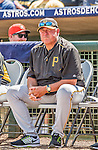 22 March 2015: Pittsburgh Pirates Manager Clint Hurdle watches play during a Spring Training game against the Houston Astros at Osceola County Stadium in Kissimmee, Florida. The Astros defeated the Pirates 14-2 in Grapefruit League play. Mandatory Credit: Ed Wolfstein Photo *** RAW (NEF) Image File Available ***
