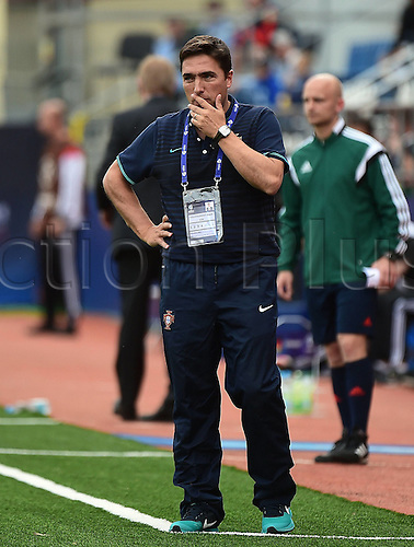 27.06.2015. Andruv Stadium, Olomouc, Czech Republic. U21 European championships, semi-final. Portugal versus Germany.  Trainer Rui Jorge (Portugal)
