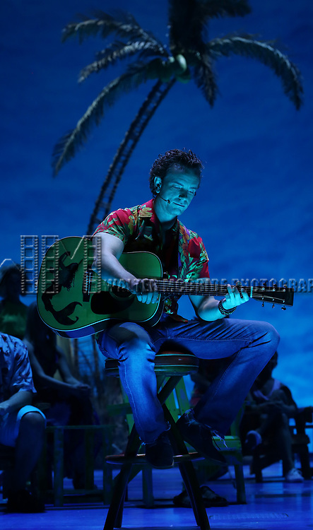 Paul Alexander Nolan during the Press Sneak Peak for the Jimmy Buffett  Broadway Musical 'Escape to Margaritaville' on February 15, 2018 at the Marquis Theatre in New York City.