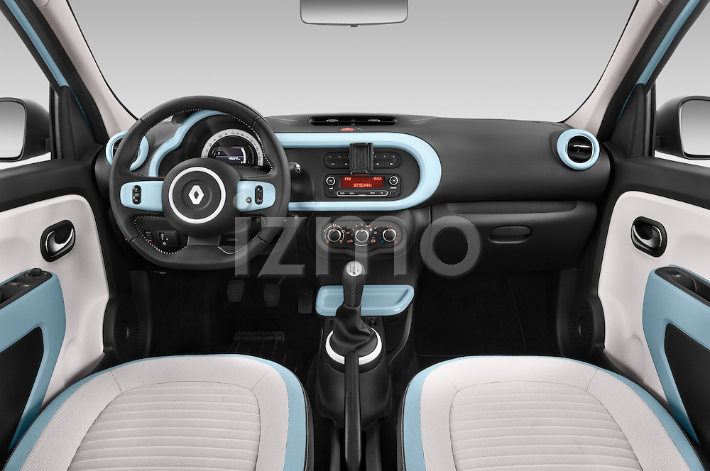 Stock photo of straight dashboard view of a 2015 Renault Twingo Intens 5 Door Hatchback 2WD Dashboard