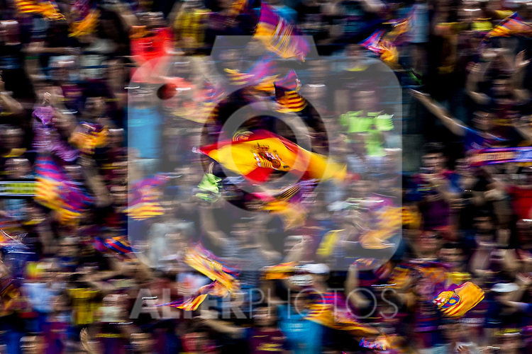 Spain flag during the match of  Copa del Rey (King's Cup) Final between Deportivo Alaves and FC Barcelona at Vicente Calderon Stadium in Madrid, May 27, 2017. Spain.. (ALTERPHOTOS/Rodrigo Jimenez)