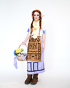 Mary Myers, of Washington, D.C., dressed as Malon from Legend of Zelda