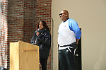 Speakers at the 5th Annual Oral Cancer Walk on April 23, 2010 at Jackie Robinson Park, Harlem, New York. (Photo by Sue Coflin/Max Photos)