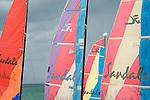 Sandals Royal Bahamian Resort. Sail study on beach.