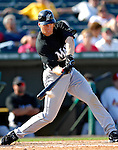 28 February 2007: Florida Marlins' outfielder Joe Borchard in action during a pre-season Grapefruit League game against the St. Louis Cardinals on Opening Day for Spring Training at Roger Dean Stadium in Jupiter, Florida. The Cardinals and Marlins share Roger Dean Stadium and the training facilities which opened in 1998 as a co-development between the Cardinals and the Montreal Expos.<br /> <br /> Mandatory Photo Credit: Ed Wolfstein Photo
