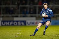 6th March 2020; AJ Bell Stadium, Salford, Lancashire, England; Premiership Rugby, Sale Sharks versus London Irish; Simon Hammersley of Sale Sharks collects the ball and looks for a lane