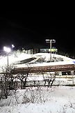 USA, Utah, Park City, a shot of the luge and bobsled course at night, Utah Olympic Park
