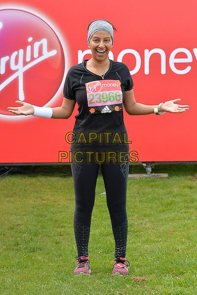 LONDON, ENGLAND - APRIL 24   Ranvir Singh at the start of the 2016 Virgin Money London Marathon on Blackheath in London, England. 24th April 2016.<br /> CAP/JWP<br /> &copy;JWP/Capital Pictures