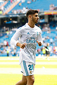 9th September 2017, Santiago Bernabeu, Madrid, Spain; La Liga football, Real Madrid versus Levante; Marco Asensio (20) of Real Madrid warming up