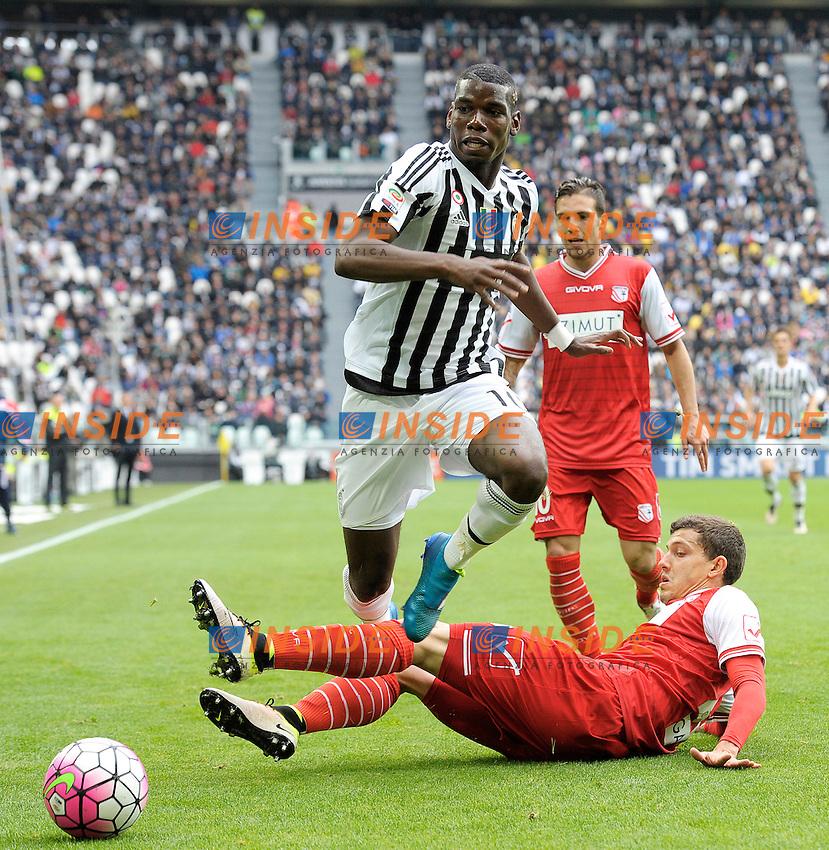 Paul Pogba Juventus, Raphael Martinho Carpi <br /> Torino 01-05-2016 Juventus Stadium Football Calcio Serie A 2015/2016 Juventus - Carpi. Foto Filippo Alfero / Insidefoto