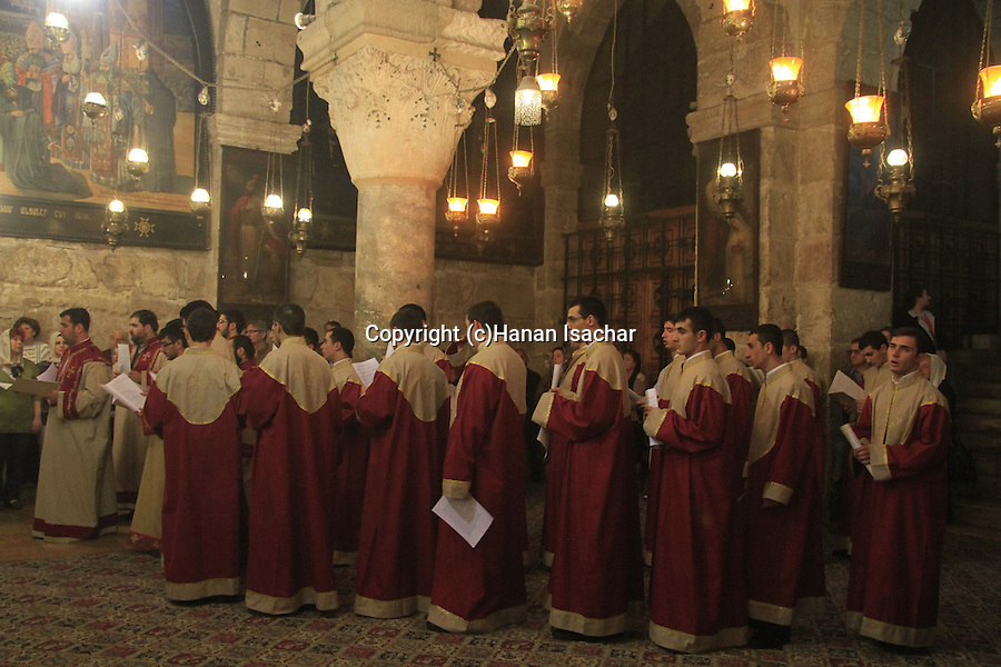 Israel, Jerusalem, the Armenian Orthodox Feast of the Discovery of the Holy Cross at Chapel of St. Helena, the Church of the Holy Sepulchre