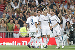Real Madrid's  players celebrates Rodanlo´s goal during Super Copa of Spain on Agost 29th 2012...Photo:  (ALTERPHOTOS/Ricky)