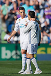 A fan enters the pitch to hug a Cristiano Ronaldo (L) of Real Madrid during the La Liga 2017-18 match between Getafe CF and Real Madrid at Coliseum Alfonso Perez on 14 October 2017 in Getafe, Spain. Photo by Diego Gonzalez / Power Sport Images