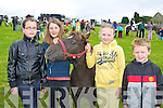 Laura Davis, Roisin Whelan, Muireann Murphy, James Byrne Milltown at the Killorglin Pony show on Sunday....