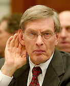 "Washington, D.C. - March 17, 2005 -- Allan H. ""Bud"" Selig, Commissioner, Major League Baseball, testifies before the United States House Committee on Government Reform on steroid use in major league baseball in Washington, D.C. on March 17, 2005. .Credit: Ron Sachs / CNP.(RESTRICTION: NO New York or New Jersey Newspapers or newspapers within a 75 mile radius of New York City)"