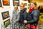 Tracy Hurley (Tralee), Noreen Taylor (Causeway) and Anita Keane (Ballyheigue) at the Photography Exhibition in the Tralee Library on Thursday as a fundraiser for the Kerry branch of the Alzheimer's Society.