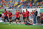 1. Fussball Bundesliga 33. Spieltag - Fortuna Duesseldorf vs. FC Augsburg 20.06.2020 - Die Mannschaft von Fortuna Duesseldorf laeuft ein<br /><br /><br /><br />(Foto: Sebastian Sendlak / wave.inc/POOL/ via Meuter/Nordphoto)<br /><br />DFL regulations prohibit any use of photographs as image sequences and/or quasi-videos.<br /><br />EDITORIAL USE ONLY<br /><br />National and international News-Agencys OUT.