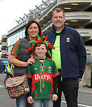 Veronica, Connall and Kevin Durcan from Castlebar at the All Ireland final replay.<br />Pic Conor McKeown