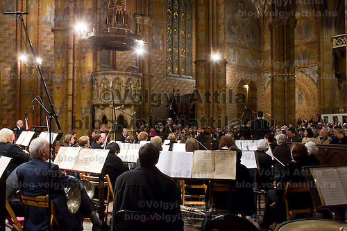 Concert presenting Crowning mass from famous Hungarian composer Ferenc Liszt in Mathias Church in Budapest, Hungary on January 14, 2012. ATTILA VOLGYI