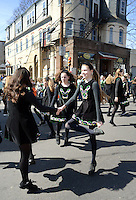 Members of the Fitzpatrick Irish Dancers perform an Iriash dance during the 2nd annual Pennridge St Patrick's Day Parade and Celtic Festival Saturday March 12, 2016 in Sellersville, Pennsylvania. (Photo by William Thomas Cain)