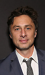 "Zach Braff Attends the Broadway Opening Night Arrivals for ""Burn This"" at the Hudson Theatre on April 15, 2019 in New York City."