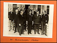 BNPS.co.uk (01202 558833)<br /> Pic: C&amp;T/BNPS<br /> <br /> VE Day 1945 - Churchill with the King at Buckingham Palace.<br /> <br /> A humble secretary's remarkable first hand archive of some of the most momentous events of WW2 has come to light.<br /> <br /> 'Miss Brenda Hart' worked in the Cabinet Office during the last two years of the war, travelling across the globe with the Allied leaders as the conflict drew to a close.<br /> <br /> Her unique collection of photographs and momentoes of Churchill, Stalin and other prominent Second World War figures have been unearthed after more than 70 years.<br /> <br /> The scrapbooks, which also feature Lord Mountbatten and Vyacheslav Molotov, were collated by Brenda Hart who, in her role as secretary to Churchill's chief of staff General Hastings Ismay, enjoyed incredible access to him and other world leaders.<br /> <br /> She also wrote a series of letters which give fascinating insights, including watching Churchill and Stalin shaking hands at the Bolshoi ballet in 1944, being behind Churchill as he walked out on to the balcony at the Ministry of Health to to wave to some 50,000 Londoners on VE day and even visiting Hitler's bombed out Reich Chancellery at the end of the war.<br /> <br /> This unique first hand account, captured in a collection of photos, passes, documents and letters are being sold at C&amp;T auctioneers on15th March with a &pound;1200 estimate.