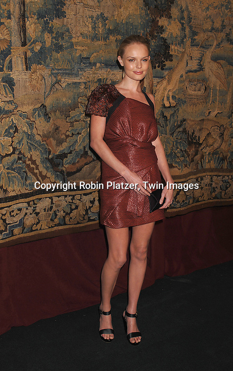 Kate Bosworth..arriving at The 7th on Sale Black Tie Gala Dinner on ..November 15, 2007 at The 69th Regiment Armory in New York. The Fashion Industry's Battle Against HIV and AIDS..will benefit. CFDA and Vogue were 2 of the sponsors...Robin Platzer, Twin Images