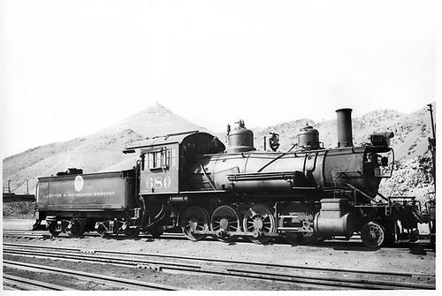 D&amp;RGW #680 in Salida.<br /> D&amp;RGW  Salida, CO  Taken by Larson, - 6/2/1939