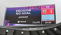 But VAR ruled Burnley's Jay Rodriguez's goal wouldn't stand<br /> <br /> Photographer Dave Howarth/CameraSport<br /> <br /> The Premier League - Burnley v Brighton & Hove Albion - Sunday 26th July 2020 - Turf Moor - Burnley<br /> <br /> World Copyright © 2020 CameraSport. All rights reserved. 43 Linden Ave. Countesthorpe. Leicester. England. LE8 5PG - Tel: +44 (0) 116 277 4147 - admin@camerasport.com - www.camerasport.com